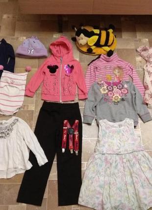 Одежда на девочку 4 года шапка-шлем, платье, штаны, реглан