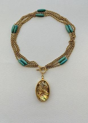 Винтажное ожерелье с медальоном monet