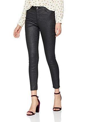 Новые крутые джинсы petite black coated glitter dorothy perkins, р,38