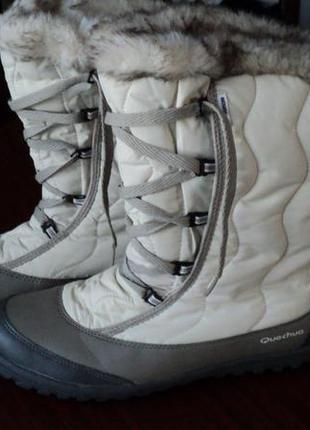 Круті зимові термо черевики дутики, мембрана novadry, франція quechua 40/41р
