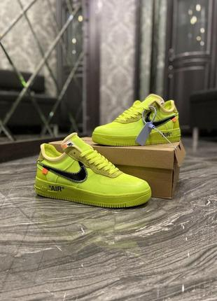 Nike air force 1 low off-white green