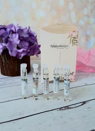 Набор пробников ароматов украинского бренда нишевой парфюмерии bibliotheque 5шт.*2мл