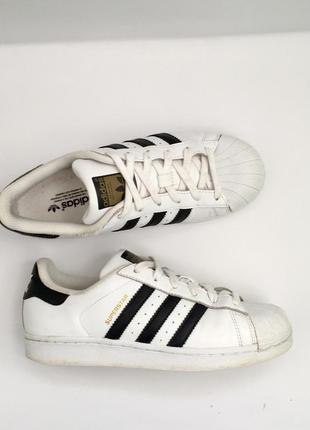 Adidas superstar оригинальные кожаные кроссовки