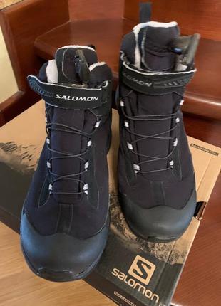 Зимние ботинки salomon саломон размер 38, по стельке 25 см.