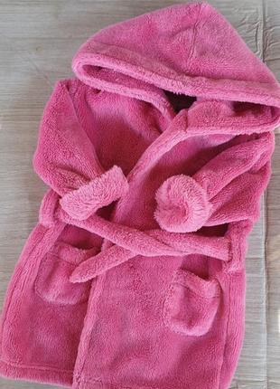 Теплый халат 12-18мес