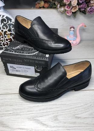 Туфли женские черные vitto rossi , натуральная кожа.