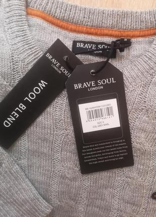 Джемпер brave soul s(44)wool blend