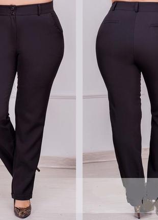 Черные брюки базовые. костюмка. sale