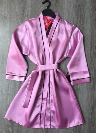 Атласные халаты для подружек невесты