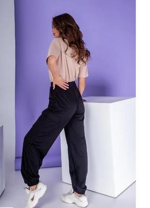 Спортивные штаны женские черный, беж,хаки2 фото