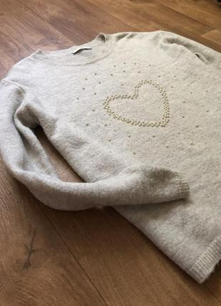 Свитер пуловер оверсайз oversize серый худи4 фото