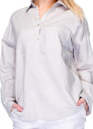 Рубашка mango,белая,раз l,55%льна,45%хлопка