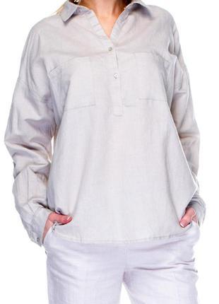 Рубашка mango,белая,раз l,55%льна,45%хлопка2