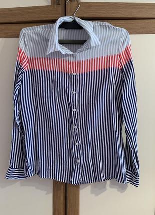 Стильная рубашка в полоску colins размер xs