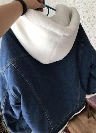 Джинсовая куртка с мехом4 фото