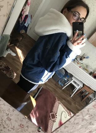 Джинсовая куртка с мехом8 фото