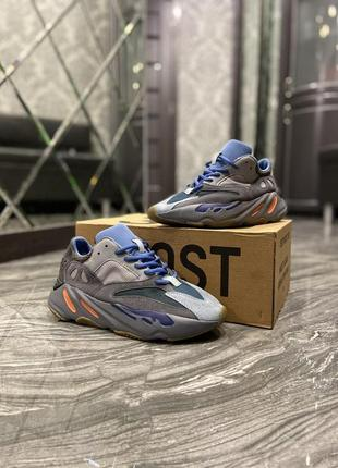 Мужские кроссовки adidas yeezy 700 blue grey