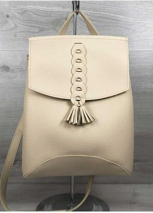 Модный женский рюкзак сумка из искусственной кожи высокого качества.