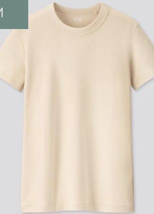 Базовая классическая женская футболка uniqlo u в винтажном стиле