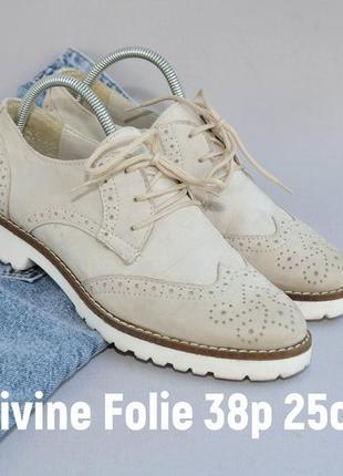 Кожаные туфли в идеальном состоянии 38р 25см стелька4 фото