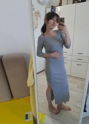 Полосатое платье pimkie s для беременных и не только1 фото