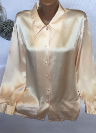 Шикарная нежная рубашка 100% шёлк1 фото