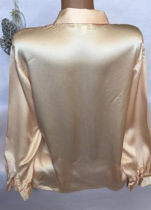 Шикарная нежная рубашка 100% шёлк2 фото