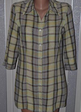 Большой выбор рубашек и блузок разных размеров рубашка трансформер 100%лен м-л размер