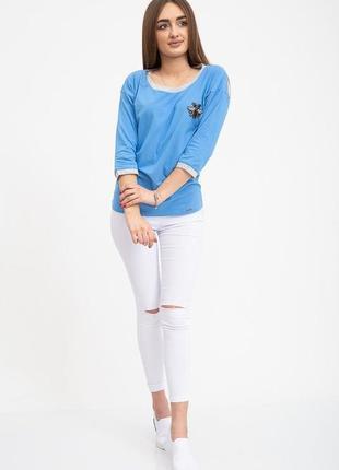 Свитшот женский 133r7740 цвет голубой2 фото