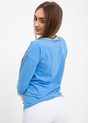 Свитшот женский 133r7740 цвет голубой3 фото