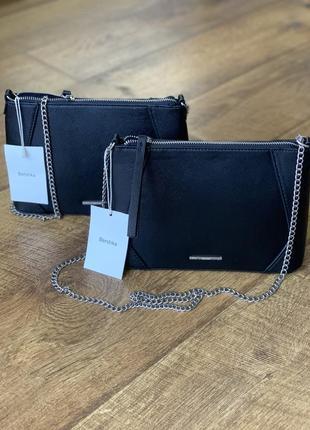 Стильная черная сумка bershka