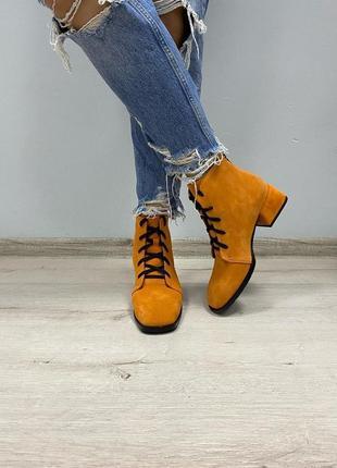 Ботинки с итальянской замши замшевые замшевi сапоги сапожки полусапоги