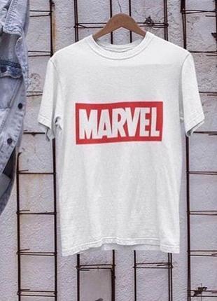 Мужская футболка с принтом марвел