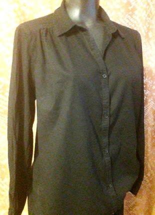 Тонкая классическая рубашка ,пог 55-56см