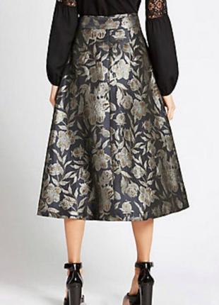 Роскошная жаккардовая миди юбка р. 10 м2 фото