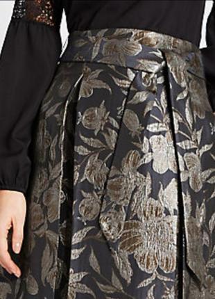 Роскошная жаккардовая миди юбка р. 10 м3 фото
