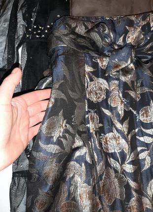 Роскошная жаккардовая миди юбка р. 10 м6 фото