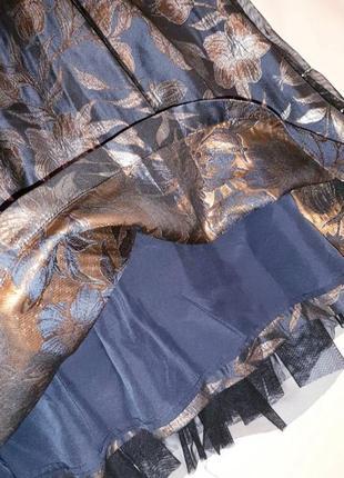 Роскошная жаккардовая миди юбка р. 10 м7 фото