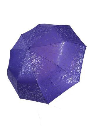 Яркий зонт полуавтомат с серебряной абстракцией1 фото