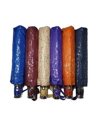 Яркий зонт полуавтомат с серебряной абстракцией3 фото