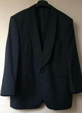 Новый стильный брендовый смокинг из тонкой шерсти,2xl-3xl на рост 160-170