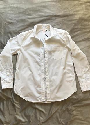 Новая рубашка бойфренда оверсайз белая хлопковая levi's levis