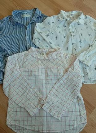 Нарядная лёгкая блуза рубашка zara для девочки 8 лет 128 рост