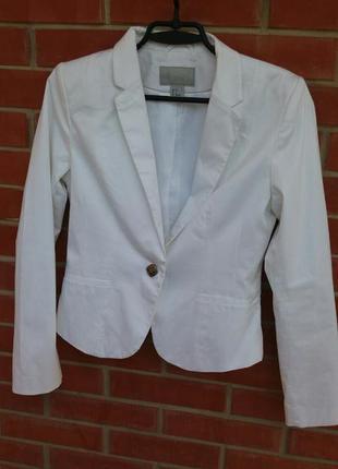 Белый пиджак h&m 38 р