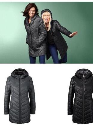 Стильное стеганное женское двухстороннее пальто от тсм tchibo (чибо)