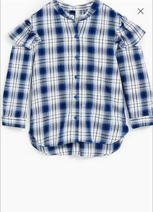 Блуза рубашка в клетку zara 8 лет