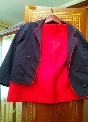 Новый брендовый эксклюзивный костюм с юбкой наполеон, размер 12-14