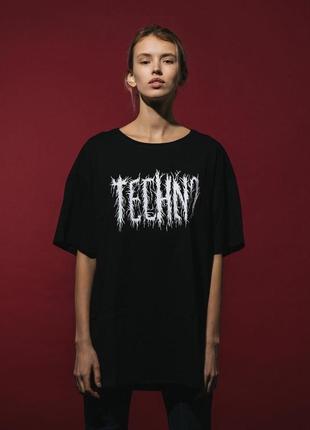 Оверсайз футболка «techno» от украинского бренда metrique1 фото