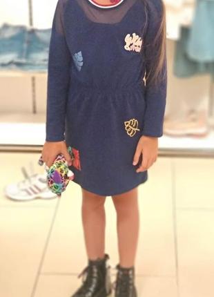 Трикотажное платье reserved рост 128 на 6-8 лет