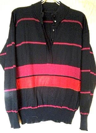 Футболка свитер джемпер, пуловер лонгслив застежка на потайные пуговицы